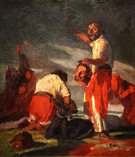 Cesareo Bernaldo de Quiros, Los Degolladores, (1926) at El Museo de Arte Moderno de Buenos Aires in Buenos Aires, Argentina.