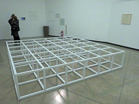 Sol LeWitt, Modular Floor Structure, (1966-'68) at the Fundacion Proa in La Boca, Buenos Aires, Argentina.