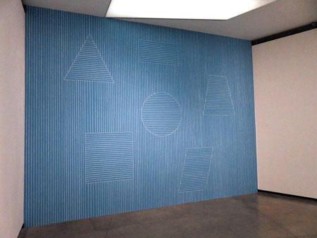 Sol LeWitt, Wall Drawing #332, (2019) at the Fundacion Proa in La Boca, Buenos Aires, Argentina.