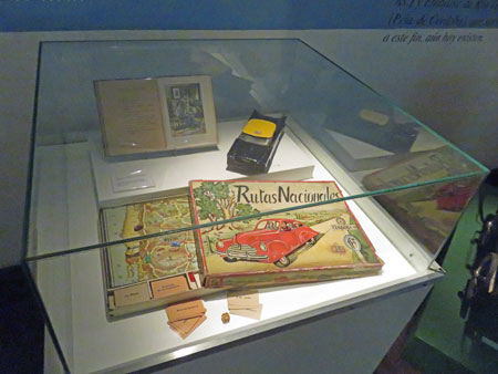 A Rutas Nacionales board game at the Museo Evita in Palermo, Buenos Aires, Argentina.