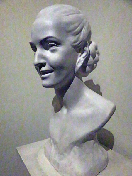 A bust of Eva Peron at the Museo Evita in Palermo, Buenos Aires, Argentina.