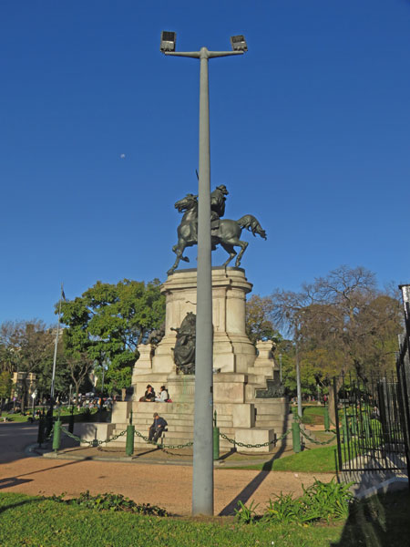 Pole position near the Plaza Italia subway station in Palermo Soho, Buenos Aires, Argentina.