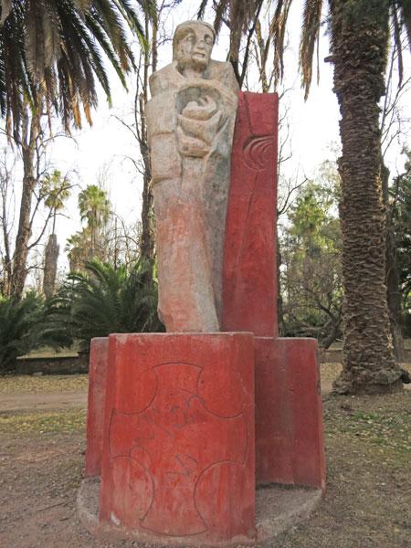 A statue in Parque General San Martin, Mendoza, Argentina.