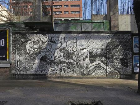 A mural of pan in Mendoza, Argentina.