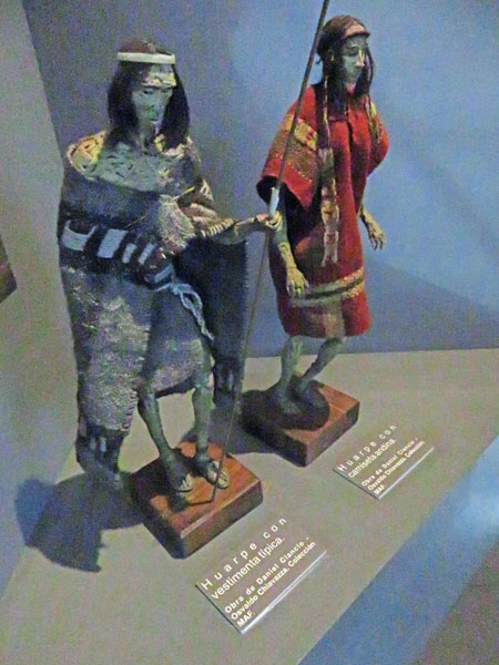 Two more figures at the Museo del Área Fundacional in Mendoza, Argentina.