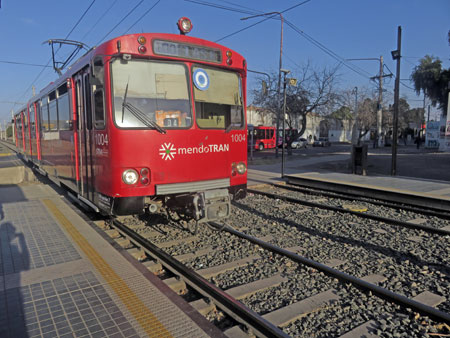 The Metro Tren trolley in Maipu, near Mendoza Argentina.