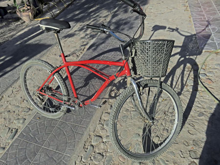 The bicycle I rented from Mr. Hugo in Maipu, near Mendoza Argentina.