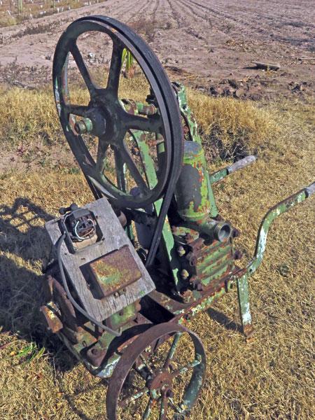 A piece of machinery at Bodega Viña el Cerno in Maipu, near Mendoza Argentina.