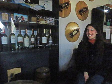 Carla Petrus, the tour guide at Bodega Viña el Cerno in Maipu, near Mendoza Argentina.