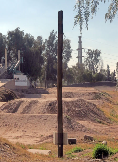 Pole position with a bonus BMX track at Parque San Martin in Mendoza, Argentina.
