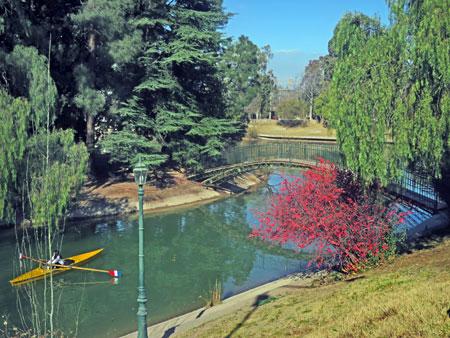 Kayaking at Parque San Martin in Mendoza, Argentina.