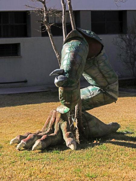Dinosaur legs at Parque San Martin in Mendoza, Argentina.
