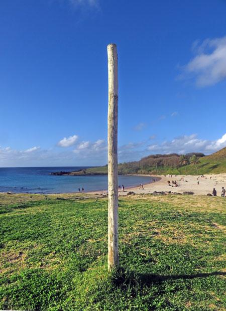 Pole position at Ahu Nau Nau, Rapa Nui, Chile.