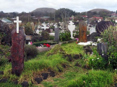 The Cementario de Hanga Roa, Rapa Nui, Chile.