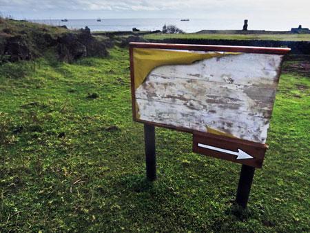 This way to nowhere in Hanga Roa, Rapa Nui, Chile.