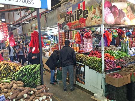 Another fruit vendor at the Mercado Tirso de Molina in Santiago, Chile.