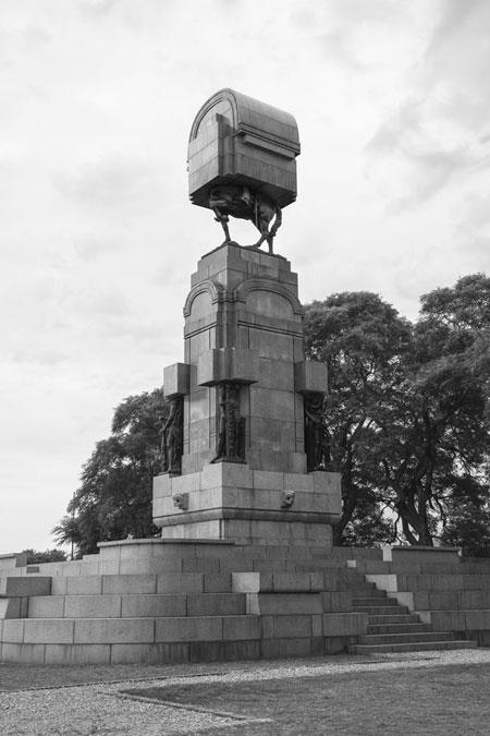 Monumento Editado by Andrés Duran at the Museo Nacional de Bellas Artes in Santiago, Chile.