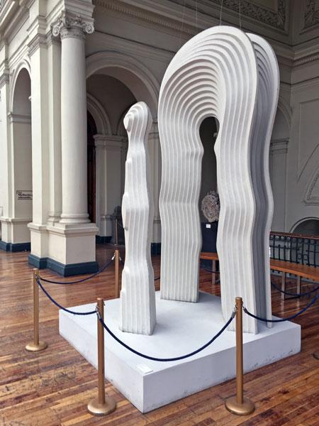 An unknown sculpture at the Museo Nacional de Bellas Artes in Santiago, Chile.