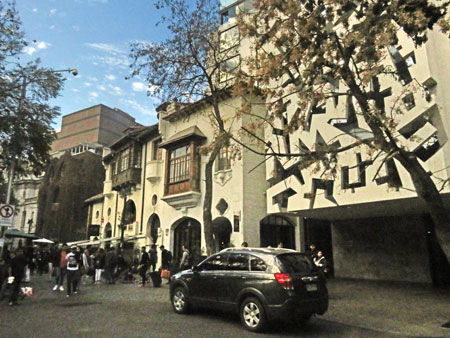 Some fancy buildings on Avenida Lastarria in Santiago, Chile.