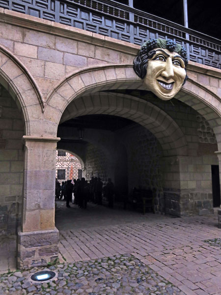 The entrance to the Casa Moneda in Potosi, Bolivia.