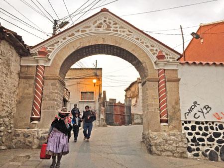 A picturesque arch in Potosi, Bolivia.