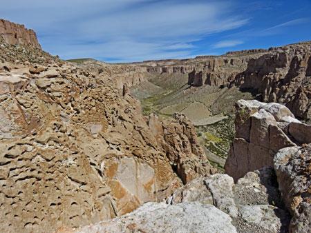 Searching for an echo at the Canon del Inca in the Reserva Nacional de Fauna Andina Eduardo Avaroa, Bolivia.