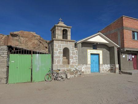 A tiny church in Markuu Villa Mar, Bolivia.