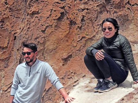 Sam and Ting Ting at the Valle de Rocas in the Reserva Nacional de Fauna Andina Eduardo Avaroa, Bolivia.