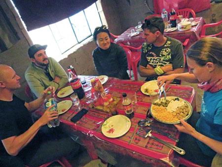 Lunchtime somewhere in the Reserva Nacional de Fauna Andina Eduardo Avaroa, Bolivia.