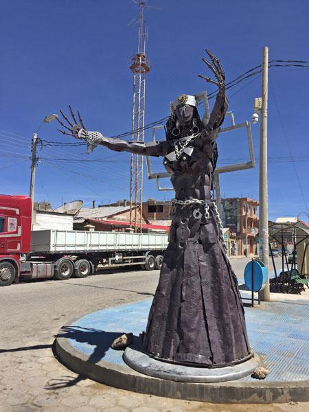 A nightmare on Ferroviaria Street in Uyuni, Bolivia.