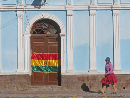 Being a pedestrian is popular in Uyuni, Bolivia.