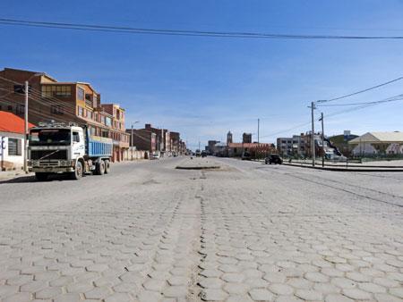 The dusty streets of Uyuni, Bolivia.