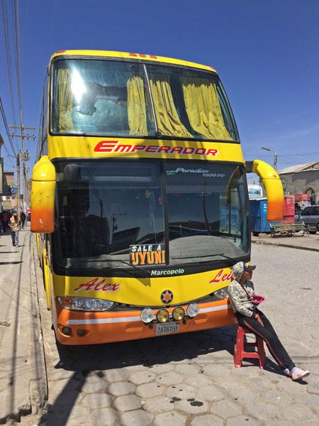 An Emperador bus from Uyuni to Potosi, Bolivia.