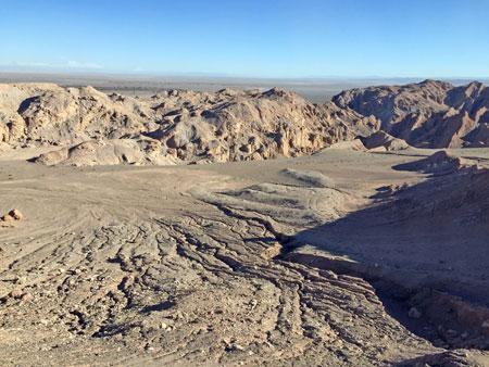 The Atacama Desert before sunset near San Pedro de Atacama, Chile.