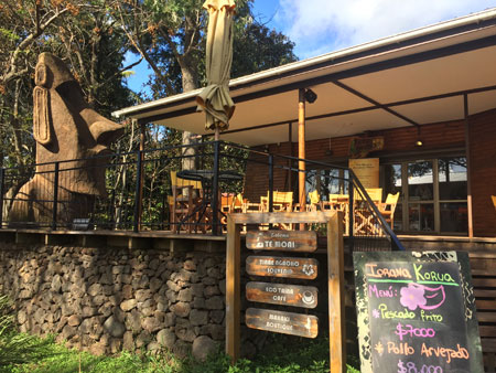 The Eco Taina Cafe in Hanga Roa, Rapa Nui, Chile.