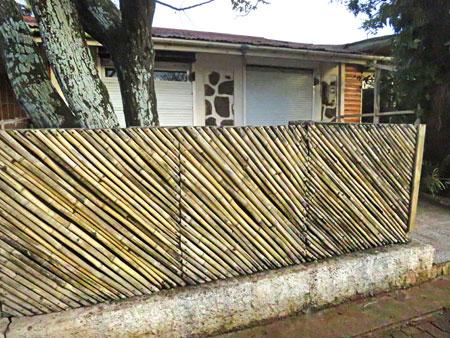 A nice bamboo fence in Hanga Roa, Rapa Nui, Chile.