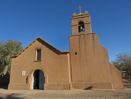 The Iglesia San Pedro in San Pedro de Atacama, Chile.
