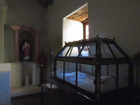 A casket in the Iglesia San Pedro in San Pedro de Atacama, Chile.
