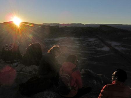 Sunset in the Valle de la Luna near San Pedro de Atacama, Chile.