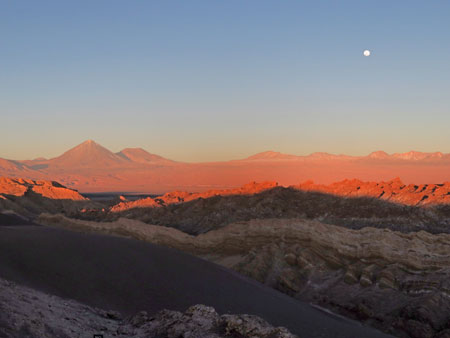 Looking east at the Andes mountains from the Valle de la Luna near San Pedro de Atacama, Chile.