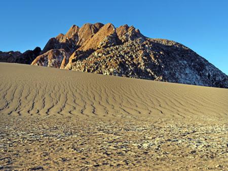 A beautifully eerie landscape in the Valle de la Luna near San Pedro de Atacama, Chile.