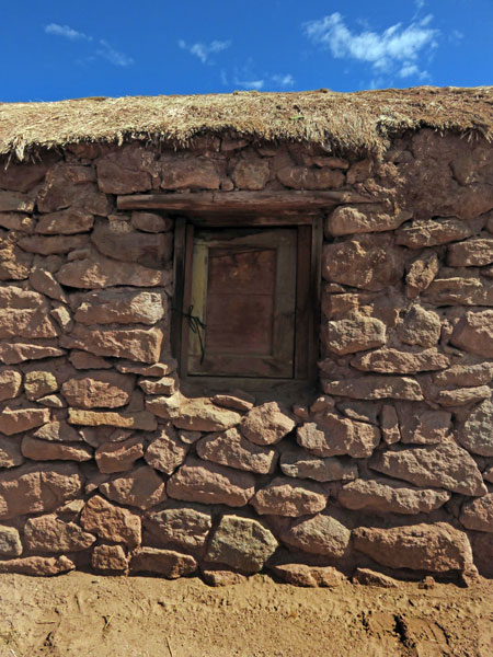 A small stone house in the village of Machuca in the Andes Mountains, Chile.