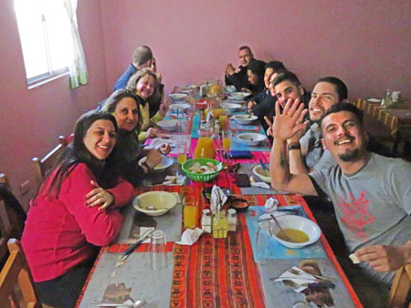 Lunchtime in the village of Socaire, Chile.