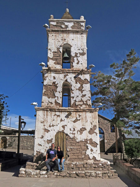 The bell tower in Toconao, Chile.