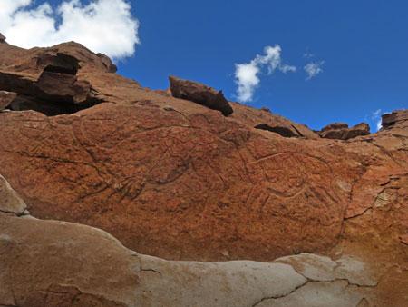 More llama carvings in the Valle de Arcoiris, near San Pedro de Atacama, Chile.