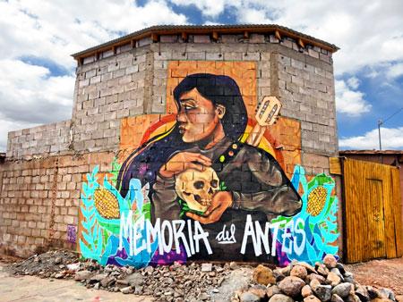 A mural in San Pedro de Atacama, Chile.