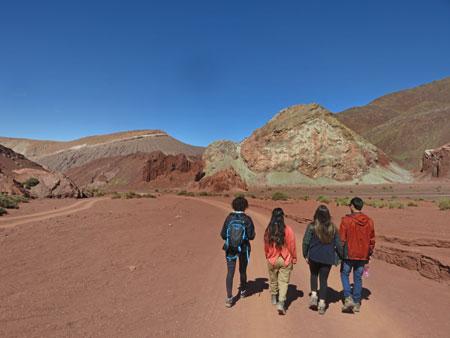 Starting our hour-long walk through the Valle de Arcoiris, near San Pedro de Atacama, Chile.