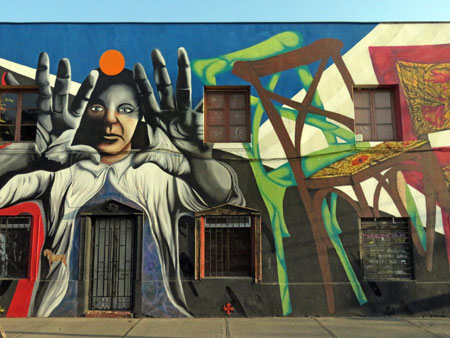 A mural in Santiago, Chile.