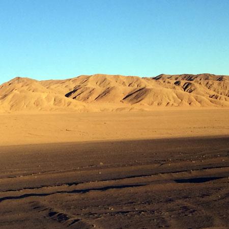 Sunrise in the Atacama Desert, Chile.
