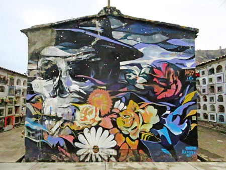 A mural in the Cementerio General in La Paz, Bolivia.